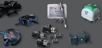 Teichtechnik, Teichpumpen, Pumpen und Zubehör, UVS-Klärgeräte, Teichbelüftung