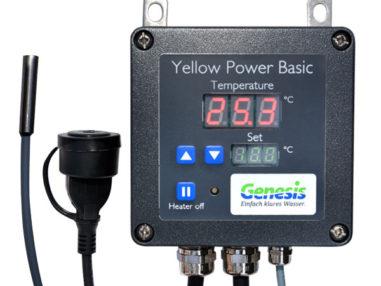 Genesis Yellow Power Basic Steuerung für Heizstab, Teichheizung, Fischteich