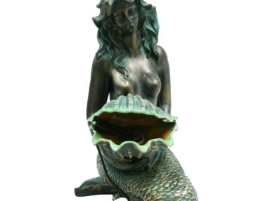 Acqua Arte Set Oslo inkl. Pumpe, Outdoor Brunnen, bronzefarbige Meerjungfrau