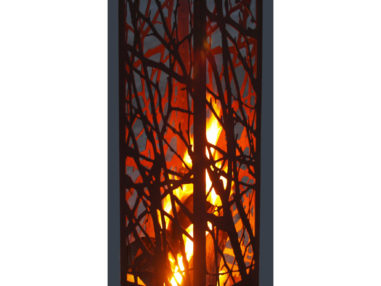 Ast Feuersäule Rost Optik, Gartendekoration
