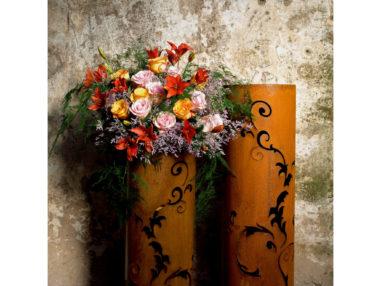 Barock Säule, Rost, Gartendekoration