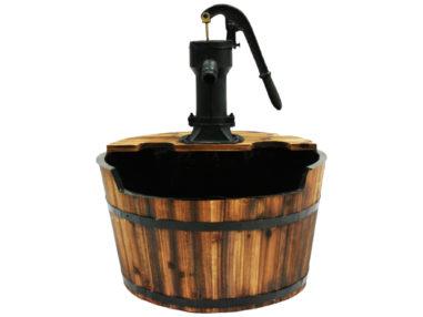 Wasserspiel Newcastle Set, Outdoor Brunnen, Holzfass