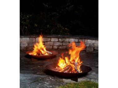 Feuerschale - rund, rost, Gartendekoration
