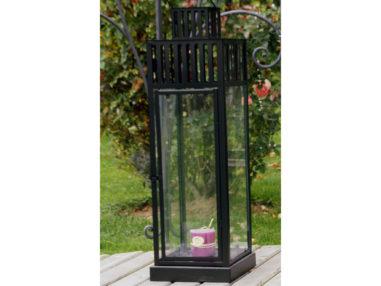 Laterne - schwarz, pulverbeschichtet, Gartendekoration